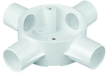Image of Marshall Tufflex 2MRB6WHI 20mm Plastic PVC 4 Way Box White