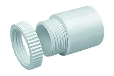 Image for Marshall Tufflex MA7 Adaptor Plastic PVC 20mm White Male