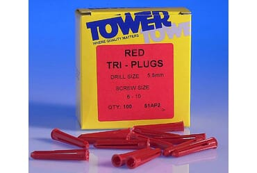 Image for Schneider Tower 51AP2 Red Wall Plug 35mm Length for a 5.5mm Drill Bit