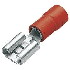 SWA Red Female Push-On Terminal 6.3mm Pack 100