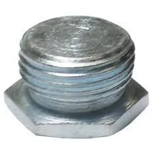 20mm Metal Hexagonal Stop Plug Galvanised Each