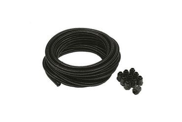 Image for Flexicon Contractor Pack 25mm Black Plastic Nylon Flexible Conduit 10 Meters with 10 Adaptors