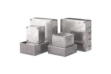Image of Metal Adaptable Box 100x100x50mm Knockouts Galvanised
