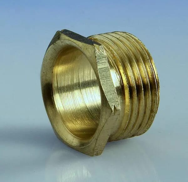 25mm Metal Male Short Bush Brass Each