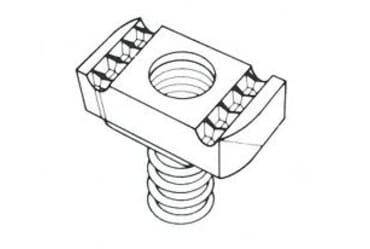 Image for Deligo Channel Unistrut M6 Nut Zebedee Long Spring