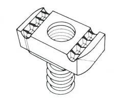 M8 8mm Long Spring Channel Nut Each