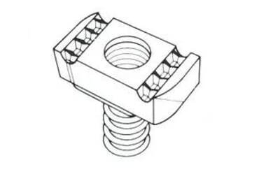 Image of M10 10mm Long Spring Channel Nut Each