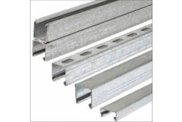 Image for Steel Sections Unistrut Metal Channel 41x41mm x2.5mm Thick Slotted Galvanised 3Metre Length