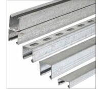 Image for Steel Sections Unistrut Metal Channel 41x41mm x1.5mm Thick Slotted Galvanised 3Metre Length