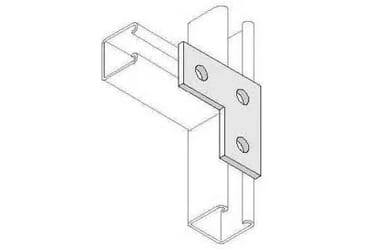 Image for Deligo Channel Unistrut L Bracket 3 Hole