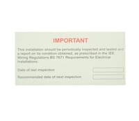 """Image for Industrial Signs Label """"Periodic Inspection"""" Self Adhesive Pack of 10"""