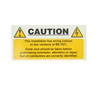"""Image for Industrial Signs Label """"Mixed Core Colours""""  Self Adhesive Pack of 10"""