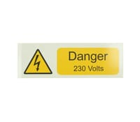 "Image for Industrial Signs Label ""Danger 230 Volts"" Self Adhesive Pack of 10"
