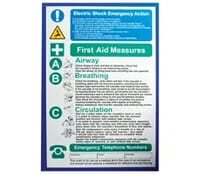 "Image for Industrial Signs Label ""Electric Shock Notice"" Rigid Plastic Pack of 10"