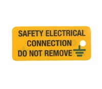"Image for Industrial Signs Label ""Safety Electrical Connect"" Rigid Plastic Pack of 10"