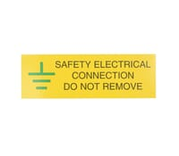 "Image for Industrial Signs Label ""Safety Electrical Connect"" Self Adhesive Pack of 10"