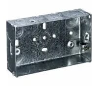 Image for Niglon Flush Metal Box 2 Gang 47mm Deep for Switches and Sockets