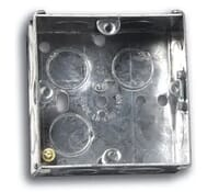 Image for Niglon Flush Metal Box 1 Gang 16mm Deep for Switches and Sockets