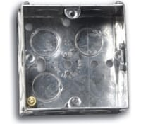 Image for Niglon Flush Metal Box 1 Gang 35mm Deep for Switches and Sockets