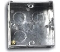 Image for Niglon Flush Metal Box 1 Gang 47mm Deep for Switches and Sockets
