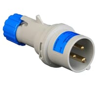Image for Lewden PM16/1100FPB Blue Plug 16A 2P+E 240V IP44