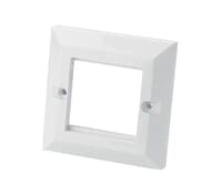 Image for Future Networks CAT5E 1 Gang 2 Way Face Plate Bevel