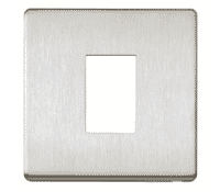 Image for MK Aspect K24171BSS 1 Gang 2 Module LJU6C Frontplate Brushed Stainless Steel