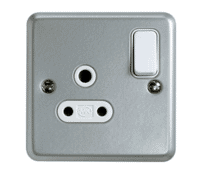 Image for MK Metalclad Plus K2871ALM 5A 1 Gang Double Pole Round Pin Switched Socket