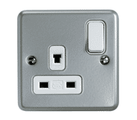 Image for MK Metalclad Plus K1247ALM 13A 1 Gang Double Pole Non Standard Switched Socket