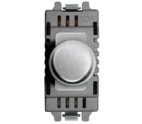Image for BG Electrical Nexus Grid GBSD400 2 Way 400W Push Dimmer Grid Switch  Brushed Steel