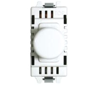 Image for BG Electrical Nexus Grid GD400 2 Way 400W Push Dimmer Grid Switch  White