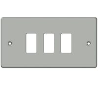 Image for BG Electrical Nexus Grid GMC3 3 Gang Grid Front Plate Metal Clad