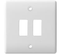 Image for BG Electrical Nexus Grid G82 Grid Plate 2 Gang White