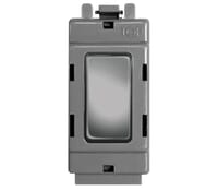 Image for BG Electrical Nexus Grid GBS12 20Ax 2 Way Single Pole Grid Switch Module Brushed Steel