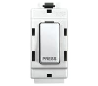 Image for BG Electrical Nexus Grid G14 2 Way Retractive Single Pole Press Grid Switch  White