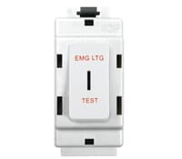 Image for BG Electrical Nexus Grid G12EL 2 Way Single Pole Grid Switch Printed Emergency Lighting Test White
