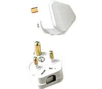 Image for BG Electrical Nexus Indoor Power PT2W 2 Amp Round Pin Plug Sleeved Pins White