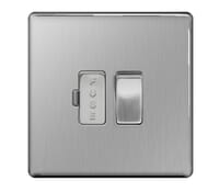Image for BG Electrical Nexus Flatplate Screwless FBS50 13A Switched Fused Connection Unit Brushed Steel