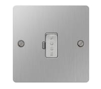 Image for BG Electrical Nexus Flatplate SBS54-02 13A Unswitched Fused Connection Unit Brushed Steel