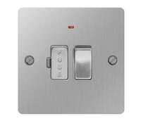 Image for BG Electrical Nexus Flatplate SBS52-02 13A Switched Fused Connection Unit With Neon Brushed Steel