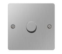 Image for BG Electrical Nexus Flatplate SBS81P-02 1 Gang 2 Way Push 400W Brushed Steel
