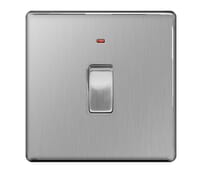 Image for BG Electrical Nexus Flatplate Screwless FBS31 20A Double Pole Switch With Neon Brushed Steel
