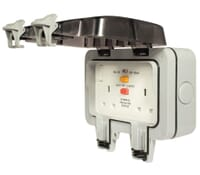 Image for BG Electrical Nexus Storm WP22RCD 2 Gang 13 Amp IP Rated RCD Switched Socket Outlet Latching White