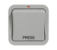 Image for BG Electrical Nexus Storm WP14 1 Gang 2 Way Retractive Printed Press 20Ax IP Rated Switch White