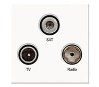 Image for BG Electrical Nexus Euro Module EMTVFMSATW TV Radio Satellite TV Radio Satellite F Type Outlet White