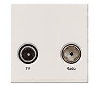 Image for BG Electrical Nexus Euro Module EMTVFMW TV IEC Male and Radio IEC Female Screened Outlet White