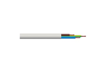 Image of 3183Y 0.75mm PVC Flexible Cable Three Core White 50M