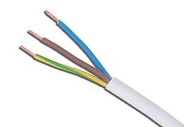 Image of 3183Y 0.75mm PVC Flexible Cable White Three Core 100M