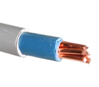 Image for Cable 6181Y 35mm Single Double Insualted Tails Blue/Grey Per Metres