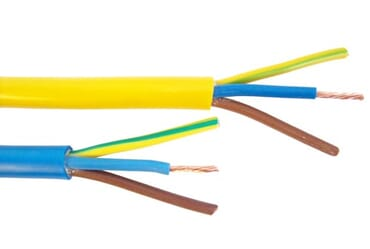 Image of 3183Y 1.5mm 110V Flexible Arctic Yellow Cable 3 Core 1M